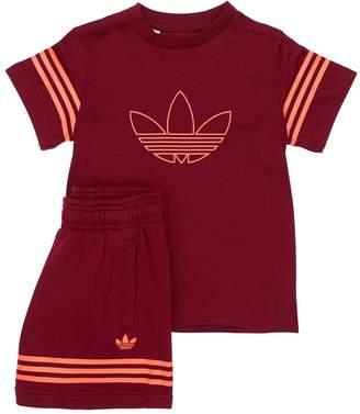 adidas Cotton Jersey T-Shirt & Sweat Shorts
