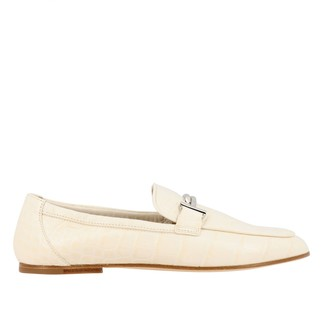 Tod's Tods Loafers Tods Moccasin In Croc Print Leather With Double T