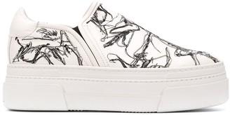 AGL platform slip-on sneakers