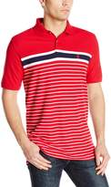 Izod Men's Short Sleeve Advantage Pique Stripe Polo
