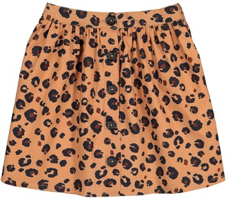 La Redoute Collections Cotton Leopard Print Skirt, 3-12 Years