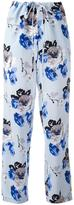 Theory floral print trousers - women - Silk/Polyester - S