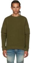 Balmain Khaki Quilted Sweatshirt