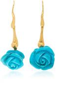 Lucifer Vir Honestus Rose Turquoise Earrings