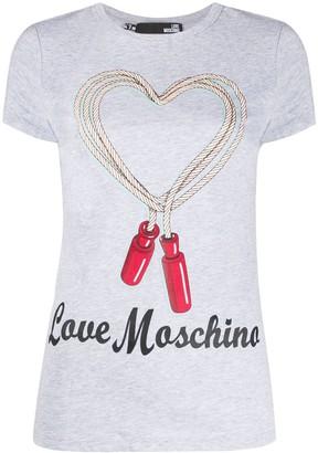 Love Moschino heart logo print T-shirt