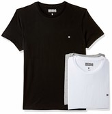 Private Label Something for Everyone Black/White/Grey Men's Basic Cotton Round Pack of 3 T Shirts Large