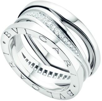 Bvlgari White Gold and Diamond B.Zero1 Legend Ring