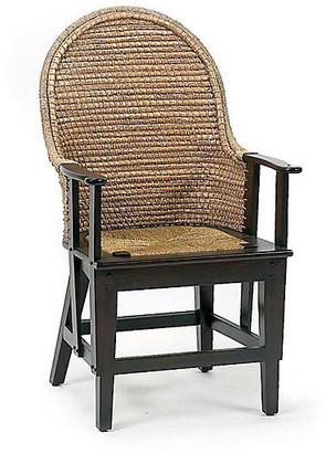 One Kings Lane Orkney Raffia Armchair - Mahogany - frame, mahogany; seat/back, natural