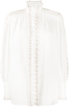 Zimmermann Long Sleeve Embroidered Blouse