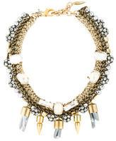 Assad Mounser Multistrand Quartz and Crystal Necklace