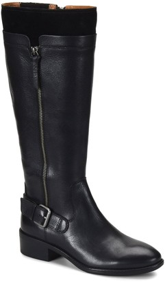 Comfortiva Mixed Leather Riding Boots - Corozal