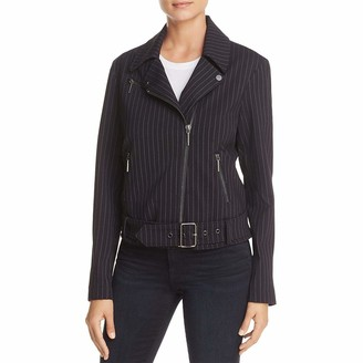 Kenneth Cole New York Kenneth Cole Women's Pinstripe Moto Jacket Outerwear