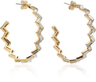 Lulu Frost Adore Gold-Plated And Crystal Hoop Earrings