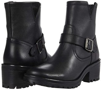 Steve Madden Grotto Booties (Black Leather) Women's Boots