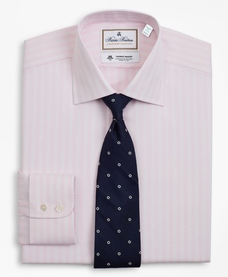Brooks Brothers Luxury Collection Milano Slim-Fit Dress Shirt, Franklin Spread Collar Stripe