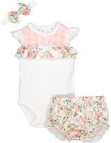 Baby Essentials Ivory Floral Bodysuit Set - Infant