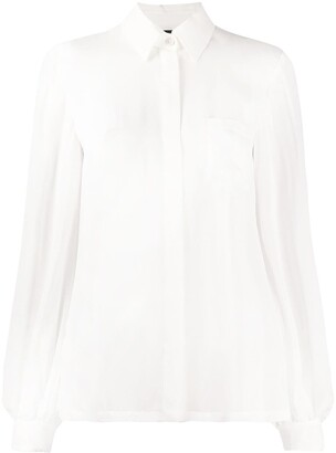 Just Cavalli Concealed Button Blouse