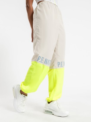 P.E Nation First Position Track Pants in Pearled Ivory
