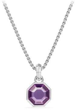 David Yurman Cable Collectibles Octagon Cut Amulet With Amethyst
