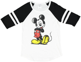 Jerry Leigh White & Heather Mickey Mouse Scribble Raglan Tee - Juniors