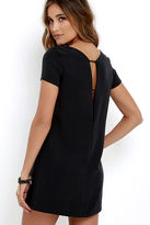 LuLu*s Mumbai the Way Washed Black Shift Dress