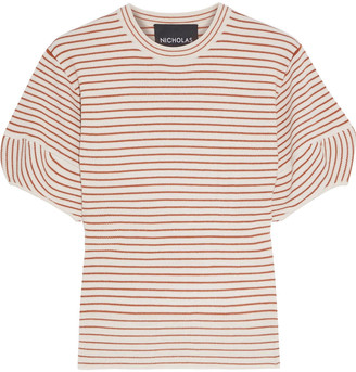 Nicholas Striped Wool-blend Top