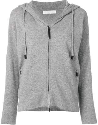 Cruciani zipped hooded sweater
