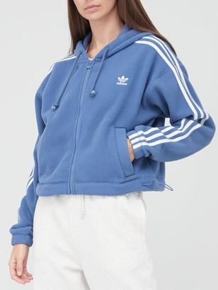 adidas Fleece Full Zip Hoodie - Blue