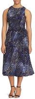 Lauren Ralph Lauren Plus Printed Matte Jersey Dress