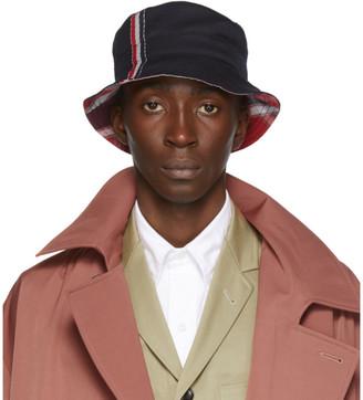 Thom Browne Navy Funmix Bucket Hat