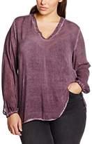 Via Appia Women's Gecrashte Langarm Bluse Mit V-Ausschnitt Schmuck Blouse