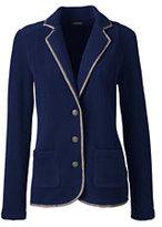 Classic Women's Polar Fleece Blazer-Blue Brook