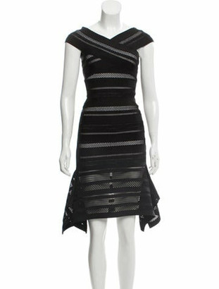 Herve Leger 2018 Off-The-Shoulder Dress w/ Tags Black