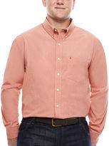 Izod Signature Long-Sleeve Cotton Poplin Shirt - Big & Tall