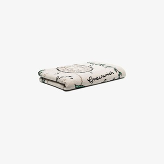 SAVED NY Neutral London Parks cashmere throw