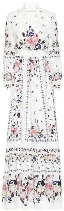 Erdem Clementine floral silk gown