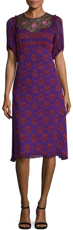 Anna Sui Women's Butterfly Hearts Midi Dress