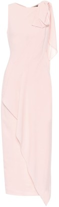 Roland Mouret Goldcrest wool-crepe midi dress