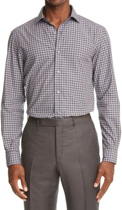 Ermenegildo Zegna Gingham Cotton Button-Up Shirt