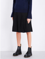 Izzue Pleated wool-blend skirt