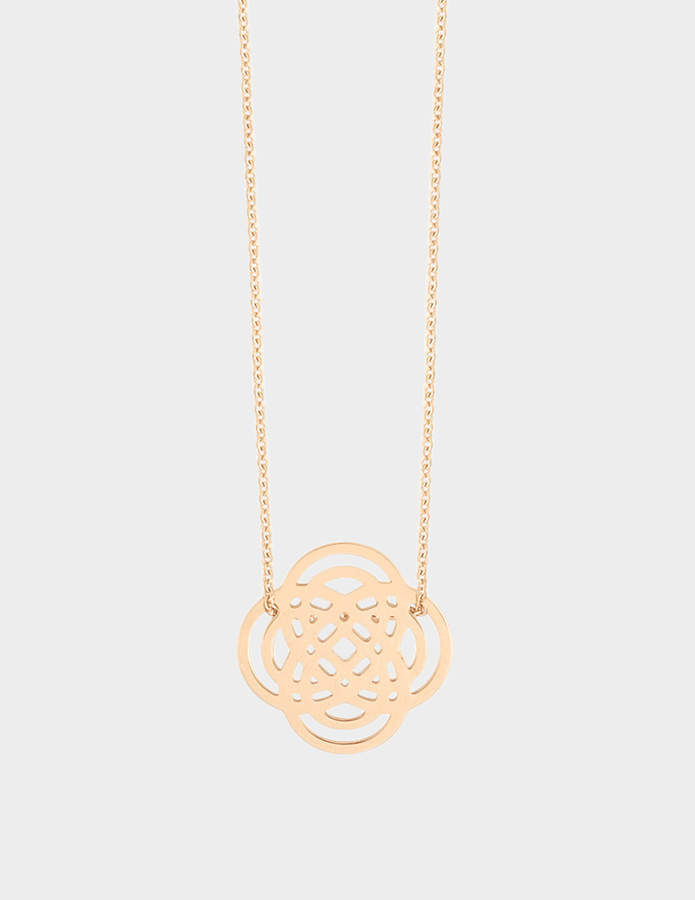 ginette_ny Mini Purity 18-karat rose gold necklace