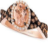 LeVian Le Vian Chocolatier® Peach MorganiteTM (3/4 ct. t.w.) & Diamond (5/8 ct. t.w.) Ring in 14k Rose Gold