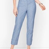 Talbots Perfect Crop Pants - Curvy Fit - Chambray