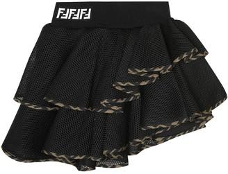 Fendi Kids FF mesh skirt