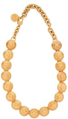 Versace Medusa Coin Choker Necklace - Womens - Gold