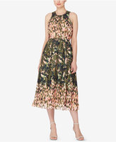 Catherine Malandrino Printed Fit & Flare Dress