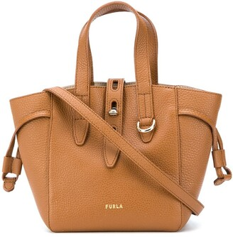 Furla Leather Bucket Bag With Gold-Tone Hardware