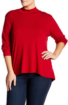 Bobeau Mock Neck Tunic (Plus Size)