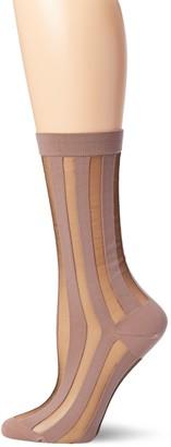 Ozone Women's Japanese Sheer Pinstripe Crew Sock