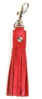 Tracey Tanner Leather Tassel Keychain